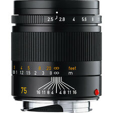 Leica 75mm / f2.5 Summarit-M Black Lens (E46) #11645
