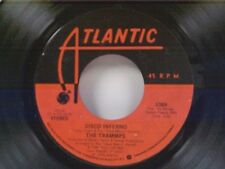 """TRAMMPS """"DISCO INFERNO / THAT'S WHERE THE HAPPY PEOPLE GO"""" 45 NEAR MINT"""