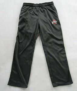 Ohio State Buckeyes Mens Polyester Dark Gray Lounge Track Pants J America Large