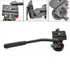 "Fluid Monopod Head with 1/4"" 3/8"" Quick Rlease Plate for DSLR Canon Nikon Sony"