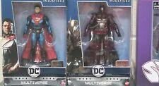 DC Multiverse Injustice 2 Superman & Batman Metal Platinum Collection NEW