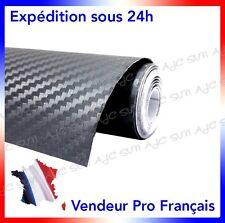 Film Vinyle 3D Carbone Gris adhésif thermoformable autocollant 152cm x 500 cm