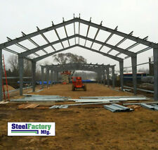 Steel Factory Mfg Prefab 40x60x16 i-Beam Frame Garage Building Materials Kit