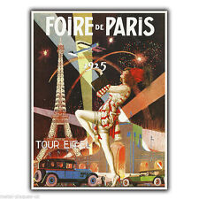PARIS FAIR/EXPOSITION Vintage Retro Advert METAL WALL SIGN PLAQUE poster print