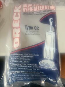 NEW-LOT OF 2 PKS ORECK TYPE CC BAGS #A01 CCPK40F