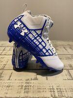 Under Armour Banshee Mid MC Mens Lacrosse Cleats 1297351-141 Blue SZ 8 Football