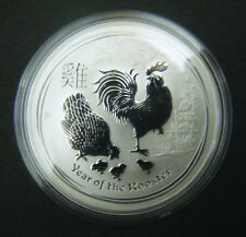 2017 Australian $1 1oz Lunar Year of the Rooster Silver coin Perth Mint Bullion