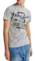 Superdry Dessert Classic Authentic Crew Neck Logo T-shirt Cotton Tee Grey Marl