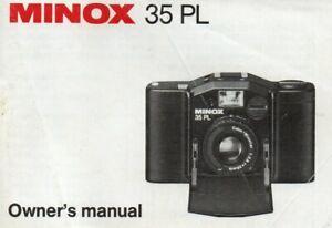 Original Instruction book for MINOX 35 PL   35mm camera   Owner's Manual