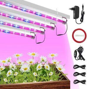40W Led Pflanzenlampe Streifen mit Zeitschaltuhr Pack 4 Led Grow Lamp with Timer