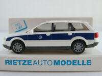 """Rietze 50935 Audi A6 Avant (1998) """"THW Bayern"""" in weiß/blau 1:87/H0 NEU/OVP"""