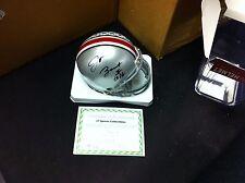 J.T. Barrett~Autographed Ohio State Buckeyes Riddell mini Helmet~COA Authentic