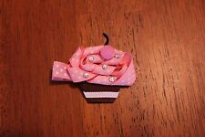 Pink Origami Cupcake Hair Clip