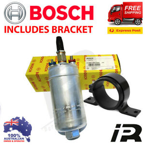Genuine BOSCH 044 Racing External Fuel Pump 0580254044 E85 + Bracket