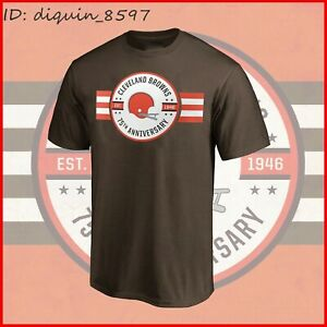 SALE!! Cleveland Browns 75th Anniversary T-Shirt – Brown