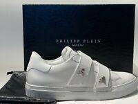 Philipp Plein Sneakers MEN PP09 WHITE Double Strap Gold Skulls