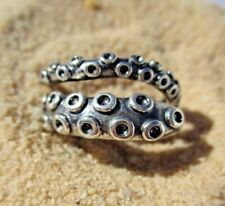 Octopus Squid Tentacle Ring - 925 Sterling - Free gift Box! - US FAST SHIP!