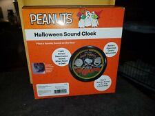 PEANUTS HALLOWEEN SOUND CLOCK 50 YEARS OF GREAT PUMPKIN NEW IN BOX