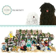 Savannashops Dog Nativity Puli Gifts - Nativity Sets - Komondor Dog Puli Dog