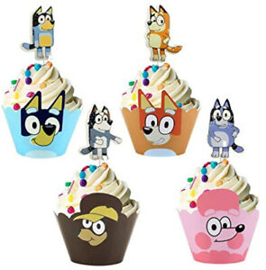 BLUEY & BINGO dogs Birthday Party supply BACKDROP CUPS PLATES NAPKINS TABLECLOTH
