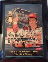 "Sam Bass Alan Kulwicki 1954-1993  Memorial Plaque ""He Did It His Way"""