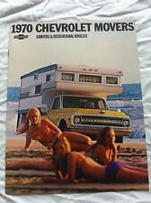 OEM FACTORY SALES BROCHURE LITERATURE 1970 CHEVY CHEVROLET MOVERS CAMPERS R/V S