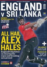 * 20th MAY 2014 - ENGLAND v SRI LANKA T20 INTERNATIONAL CRICKET PROGRAMME *