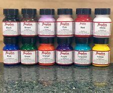 Angelus Acrylic Leather & Vinyl Paint Starter Kit - Set #1, Pack Of 12 Colors