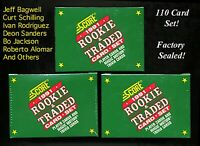 1991 SCORE TRADED ROOKIE SET 110 CARDS SEALED W/ BAGWELL & IVAN RCS BO & DEION!