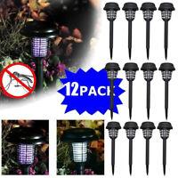 12PCS Garden Lawn Solar Mosquito Killer Light Insect Pest Bug Zapper Lamp Lights