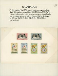 Nicaragua MH Military Academy Specialized: Scott #C466//C474 Color Proofs $$$