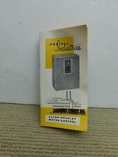 Vtg electronics catalog Allen Bradley Motor Control Reversing Drum Switch