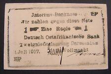 GERMAN EAST AFRICA GERMANY 1 RUPEE 1917 *EP*