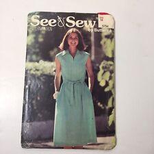 See & Sew 5754 Size 14 Misses' Dress Belt