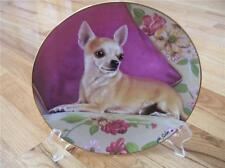 Danbury Mint Chihuahua Puppy Dog Reserved Seating Limited Edition Plate + COA