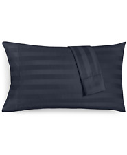 Charter Club Damask Stripe Standard Pillowcase Navy - One Pillowcase Only $70