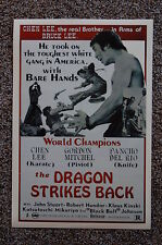THE DRAGON STRIKES BACK Lobby Card Movie Poster CHEN LEE
