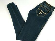 Rock Revival Women Jacklyn Super Skinny Jeans Low Rise Sz 27x33 Blue Dark Wash