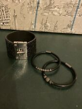 2 DESIGNER JULEO BRACELET  VERY GOOD CONDITION And 1 Sparkly Bracelet