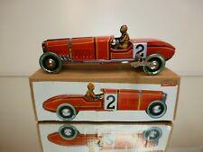 TIN TOY PAYA REPLICA VINTAGE CLASSIC RACE CAR #2 - RED L19.0cm - GOOD IN BOX