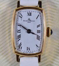 Classic Ladies 18k Solid Yellow Gold BAUME & MERCIER Vintage Swiss Wristwatch