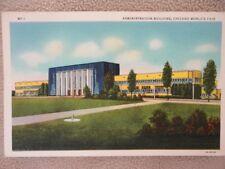 Postcard Century of Progress Adm Building Chicago Worlds Fair 1933 Unused Vintag