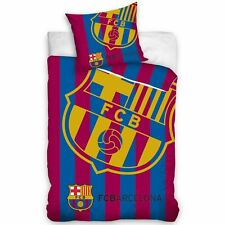 FC BARCELONA CORNER LOGO SINGLE DUVET COVER SET 100% COTTON EUROPEAN BEDDING