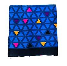 "Blue Triangle Super Silk Pocket Square Handkerchief Hanky Pocket Square_11""x11"""