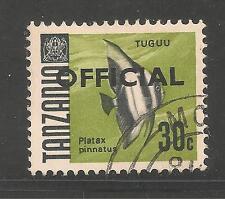 Tanzania #O13 (A4)  VF POSTAL USED - 1967 30c Batfish - Fish - Official