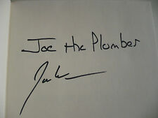 COLLECTIBLE BOOK, Signed by JOE THE PLUMBER (: Fighting for the American Dream