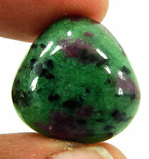 29.55 Ct Natural Ruby Zoisite Anyolite Loose Gemstone Cabochon Stone - 19377
