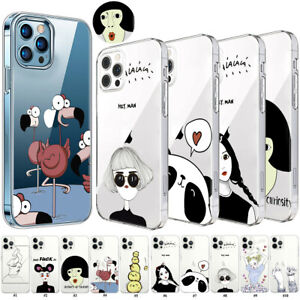 Creative Funny Girl Soft TPU Case Silicone Cover For iPhone 12 11 Pro Max XR 7 8