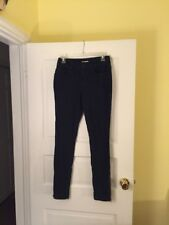 Silence + Noise NWT High Rise Ankle Zip Twig Navy Blue Jeans Size 28