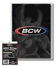 (50 Pack) BCW Mini Snap Tite Card Holders Stackable Standard Size Archival Safe